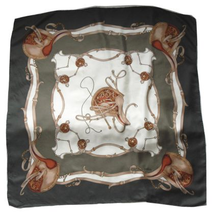 Loredano saddlery design silk scarf
