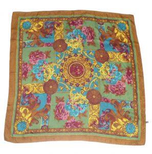 Large jacquard silk scarf