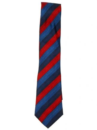 Givenchy Paris red and blue silk tie